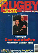 RUGBY WORLD MAG MARCH 1994 PHIL DAVIES, NEIL JENKINS, 1982 IRELAND TRIPLE CROWN