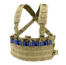 CONDOR MOLLE Nylon Rapid Assault Rifle Mag Holder Chest Rig mcr6-003 TAN
