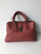 BOTTEGA VENETA Vesuvio Intrecciato Medium Roma Handbag In Brick Red