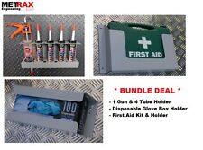 *DEAL - Van Storage Bundle First Aid Kit, Glove Box & 1 gun 4 tube holder DEAL*