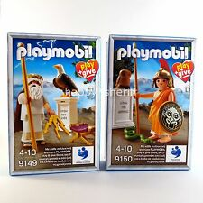Playmobil Play+Give 9149 & 9150 Ancient Greek Gods Zeus Athena Figures New Rare