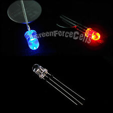 5 x 5mm Dual Bi-Color Red Blue Bright 3-Pin Water Clear bulb Led Common Anode