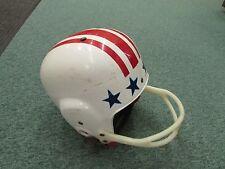 Vintage Kent football helmet 4109 medium red stripes blue stars white helmet