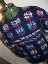 RETRO FAIR ISLE SCANDINAVIAN STYLE 100% WOOL JUMPER
