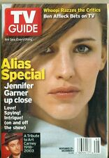 TV GUIDE - 2003 - ALIAS - JENNEFER GARNER COVER + WHOOPI + ART CARNEY TRIBUTE