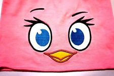 NEW! Angry Birds Stella Pink Girl Bird Pink Beanie Reversible Hat Embroidered ey