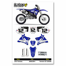 2006-2016 YAMAHA YZ 125 250 GYTR Graphics Kit Motocross Graphics Enjoy