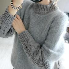 Women Lady Long Sleeve Cardigan Knitted Sweater Jumper Knitwear Outwear Coat