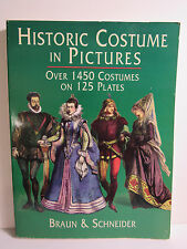 Historic Costumes in Pictures,Over 1450 Costumes on 125 Plates,Black & White Ske