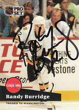 RANDY BURRIDGE BRUINS AUTOGRAPH AUTO 91-92 PRO SET #4 *11755