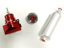 WALBRO 255 INLINE FUEL PUMP + RED FUEL PRESSURE REGULATOR + 0-100 PSI GAUGE