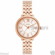 Fossil Original ES3799 Women's Jacqueline Mini Rose Gold Stainl Steel Watch 26mm