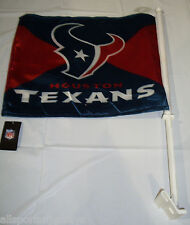 NFL NWT CAR WINDOW FLAG - HOUSTON TEXANS