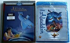 NEW DISNEY ALADDIN BLU RAY DVD 2 DISCS BEST BUY EXCLUSIVE LENTICULAR SLIPCOVER