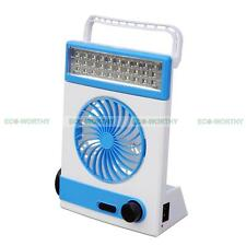 Solar Sun Powered Power Vent Fan Cool Ventilator W/ LED Light for Camping SUV