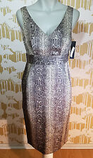 ISDA & CO DRESS Snake Reptile Print Size 4 Jacquard Print NWT From Neiman Marcus