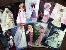 Lot of 10 Paradise Publications Crochet Collector Costume Doll Patterns