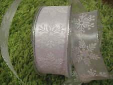 Organzaband ,Schleifenband, Geschenkband,Weihnachten,Schneeflocke,silber