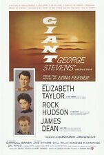 GIANT MOVIE POSTER ~ SUN 27x40 James Dean Elizabeth Taylor Rock Hudson