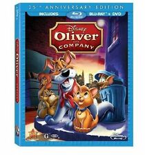 Oliver and Company (Blu-ray/DVD, 25th Anniversary Edition) Ships in 12 hours!!!