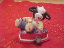❤ MOO ALL YOUR WISHES BE FILLED CHOC-COW-LATE KISSES ~~Mary's Moo Moos RARE HTF