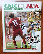 CALCIOITALIA GUERIN SPORTIVO 83 - 84 giugno 1984 - poster + adesivi completo