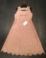 BNWT VALENTINO ROSE PINK LACE CREPE FLORAL DRESS BOW GLAM ROCK RRP2999