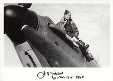 WWII WW2 BoB RAF Ace Battle of Britain MILLARD hand signed photo cockpit