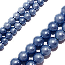 Magnetic Hematite Beads High Power Periwinkle Blue Rounds 4mm Beads Strands