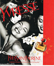 PUBLICITE ADVERTISING 065  1996  YVES SAINT LAURENT parfum YVRESSE