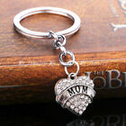 Mom Family Hot Rhinestone Crystal Heart Keyrings Keychain Key Chain Pendant