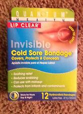 Quantum Health Lip Clear Invisible Cold Sore Bandage, 12 Ct