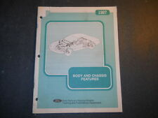 1987 FORD BODY AND CHASSIS FEATURES  TRAINING MANUAL PRINTED 1986