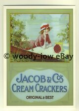 ad3409 - Jacob & Co's Cream Crackers - Lady on a Lake -  Modern Advert Postcards
