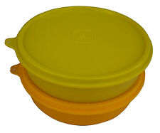 TUPPERWARE LARGE HANDY BOWLS / CONTAINERS / CHAPPATI BOWLS (2 PCS)- YELLOW GRN