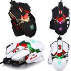 Professional 4000DPI 10D Buttons LED Optical Wired Gaming Mouse For Pro PC Gamer