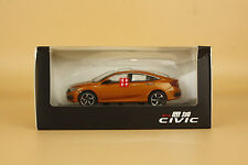 1/43 2016 China the Tenth generation Honda civic diecast model orange color