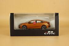 1/43 2016 China the Tenth generation Honda civic diecast model orange color