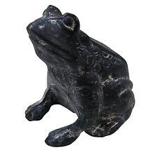 statue sculpture grenouille animaux decoration de jardin en fonte grise