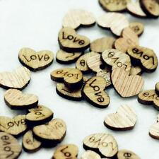 HOt Sale Wholesale 50pc Love Heart Wood Loose Beads Appointment Wedding Decor