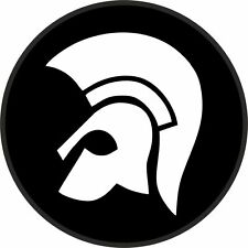 TROJAN RECORDS neg set of 2 STICKERS  CAR WINDOW BUMPER SCOOTER STICKER DECAL