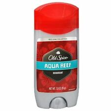Old Spice Red Zone Deodorant Solid, Aqua Reef 3 oz (Pack of 5)