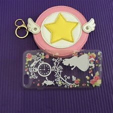 Cosplay Card Captor Sakura Kinomoto Sakura PU Coin Bag Card Holder Purse Wallet