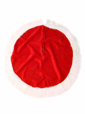 LARGE SANTA CLAUS FATHER CHRISTMAS TREE SKIRT BASE FLOOR STAND COVER 100CM NEW