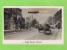 High Street Barnet Horse & Carriage unused RP pc  Ref A699