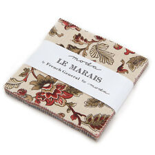 """LE MARAIS~MODA FABRIC~42-5"""" SQUARES~CHARM PACK~FRENCH GENERAL~13730PP"""