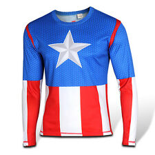New Men Women Long Sleeve Marvel Superhero T-Shirt Costume Cosplay Tops Jerseys