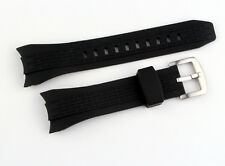 New Silicone Rubber Black Watch Band Strap For (Fit) Seiko Velatura Kinetic 7T62