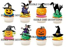 30 Halloween STAND UP Cupcake Fairy Cake Toppers Edible Rice Paper Decorations