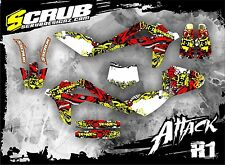 SCRUB Husqvarna graphics decals kit CR 125 2006-2008 stickers '06-'08 Husky MX